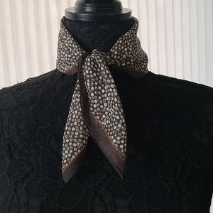 Fall Dotted Square Scarf